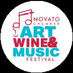 FAWM Festival Novato CHamber Alamedia Novato Art wINE music logo beer moylans