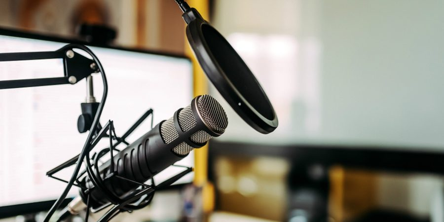 Business Events Committee Podcast Business Resources.  Microphone