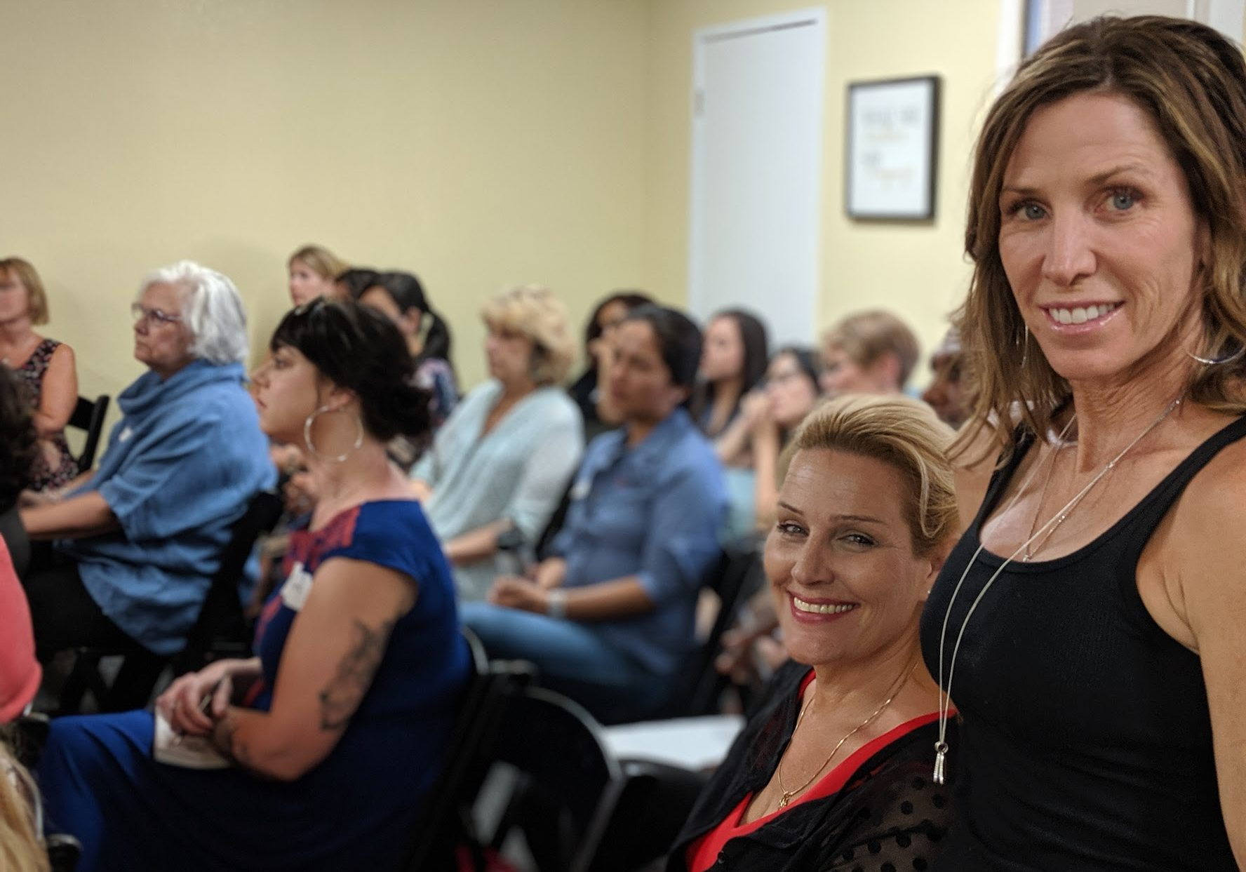 Lisa Marie Taylor and Roxanne Albin at Women in Business